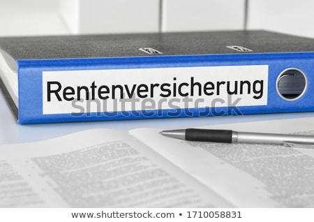 akta · mappák · nyugdíj · biztonság · iratok · kártya - stock fotó © zerbor