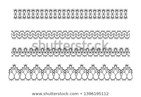 Abstrato vetor padrão preto geométrico tecido Foto stock © yopixart