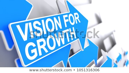 Stockfoto: Business Growth Strategy - Inscription On Blue Pointer 3d
