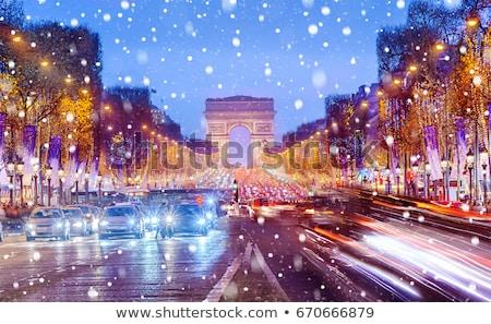 Winter avenue Stock photo © Pozn