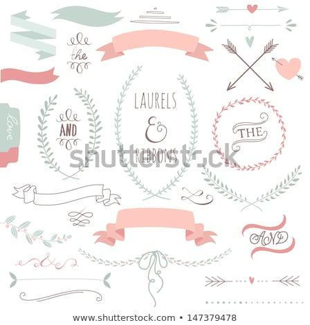 set · nastri · elementi · amore · simbolismo · rosa - foto d'archivio © sarts