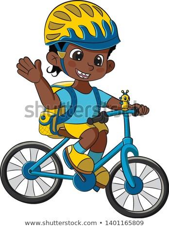 школьник велосипед набор различный автомобилей школы Сток-фото © toyotoyo