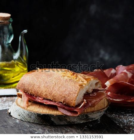 Espanhol serrano presunto sanduíche ver Foto stock © nito