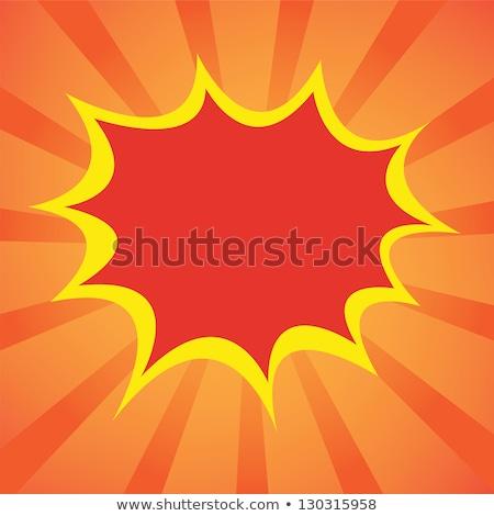 Foto stock: Zangado · desenho · animado · explosão · ilustração · olhando · energia