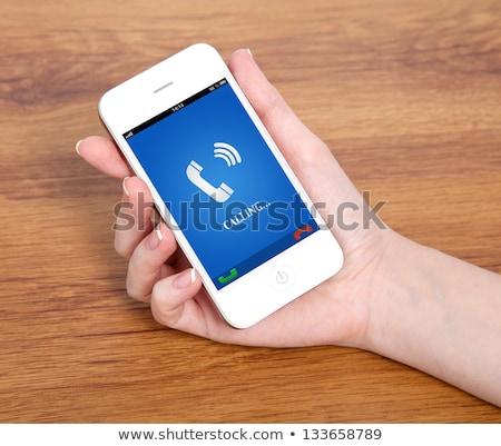 hand · moderne · smartphone · supermarkt · mobiele - stockfoto © artjazz