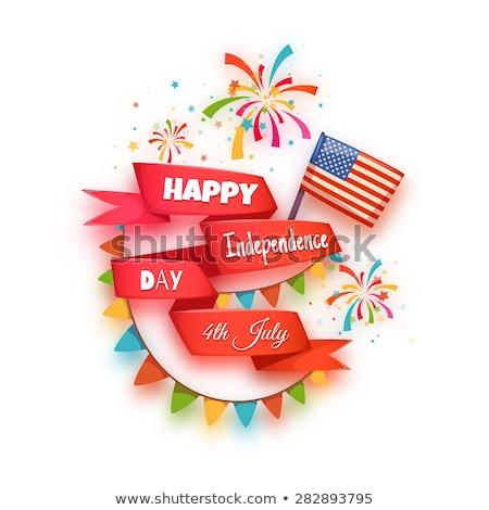 Bandera día EUA anunciante título forma Foto stock © robuart