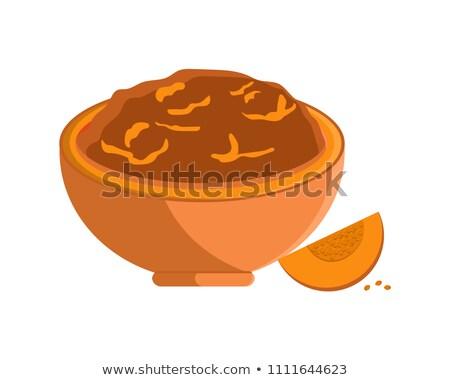 Squash citrouille semences nourriture végétarienne plat Photo stock © robuart