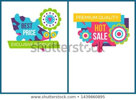 Exclusief producten beste prijs banners Stockfoto © robuart