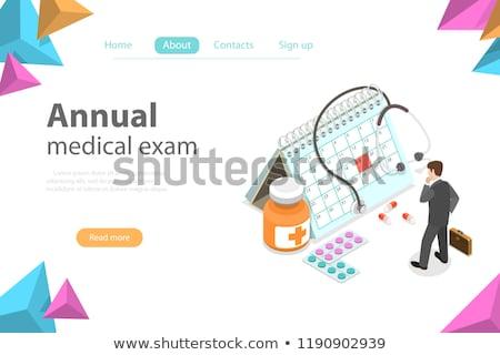 Regual medical checkup isometric flat vector concept Stock photo © TarikVision