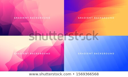 Brilhante cores conjunto banners baixo abstrato Foto stock © Linetale