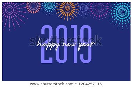 Green 2019 New Year sign isolated on white Stock photo © MikhailMishchenko