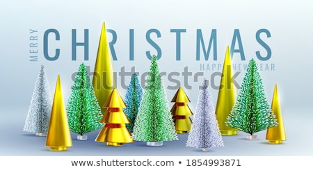 Christmas party design templates, posters with ball and Christmas decoration, vector illustration. Stock photo © ikopylov