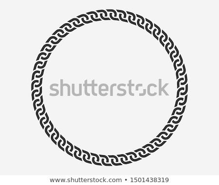 Métal chaîne lien cercle liens forte Photo stock © jeff_hobrath