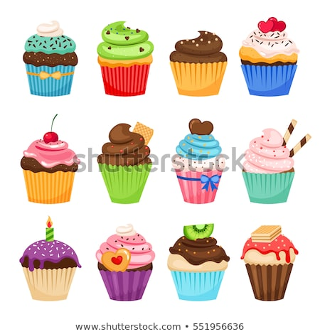 Yummy Cup Cake Stock photo © vectomart