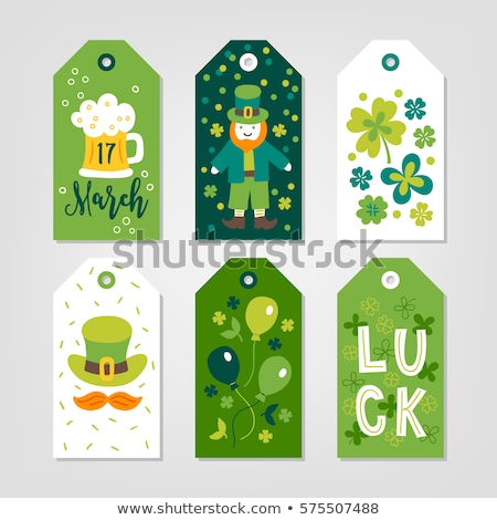 Green Orange Balloons Irish St Patricks Shamrocks Hat Stock photo © limbi007