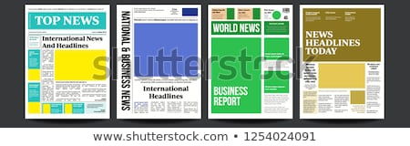 Newspaper Cover Set Vector. With Text And Images. Daily Opening News Text Articles. Press Layout. Ma Stock photo © pikepicture