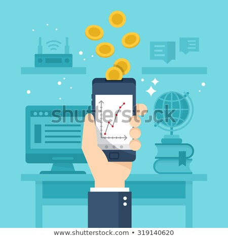 Mobile expense management concept vector illustration. Stock photo © RAStudio