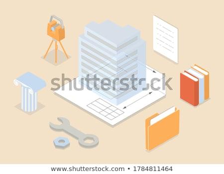 Building information modeling concept vector illustration. Stock photo © RAStudio