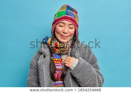 Obraz dwa zadowolony dziewcząt Zdjęcia stock © deandrobot