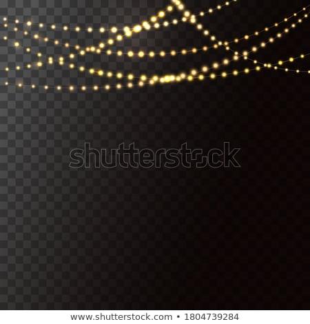 Opknoping lichten abstract achtergrond christmas Stockfoto © kostins