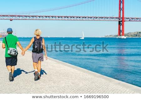 Gelukkig San Francisco stad ouderdom toerisme Stockfoto © dolgachov