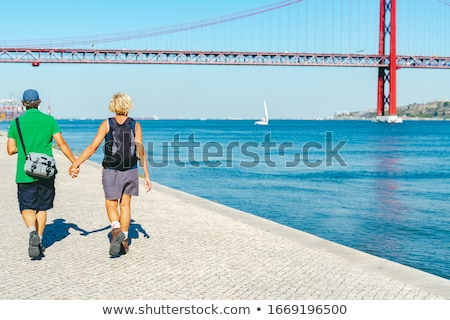 Mutlu San Francisco şehir turizm Stok fotoğraf © dolgachov