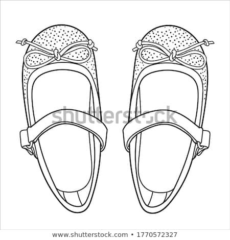Realistic child sandal drawn outline doodle icon. Stock photo © RAStudio