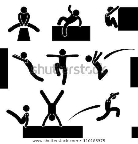 Pessoas acrobacia vetor ícone símbolo fitness Foto stock © blaskorizov