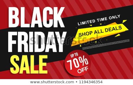 Speciale promo carta metà prezzo black friday Foto d'archivio © robuart