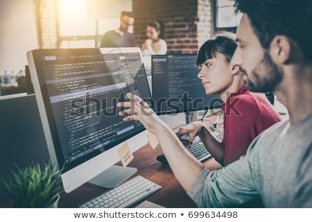 programozós · fejlesztő · csapat · kódolás · technológiák · weboldal - stock fotó © snowing