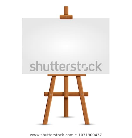 blank white canvas on a wooden easel Stock photo © nito