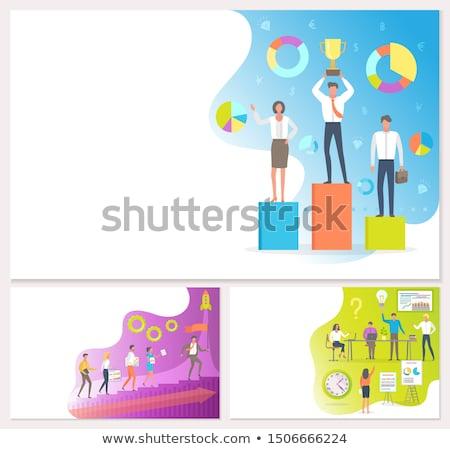 lavoro · di · squadra · cooperazione · business · lavoro · vettore · persone - foto d'archivio © robuart