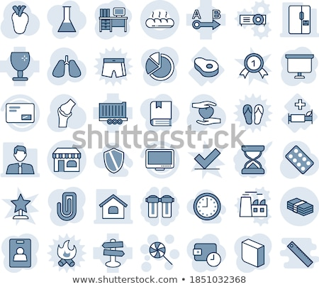 Shield in heart icon. Vector illustration isolated on white background. stock photo © kyryloff
