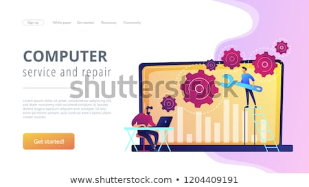 Computer troubleshooting concept landing page. Stock photo © RAStudio