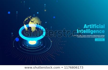 Augmented intelligence concept landing page. Stock photo © RAStudio
