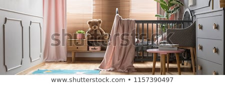 baby in the crib at home bedroom Stock photo © Lopolo