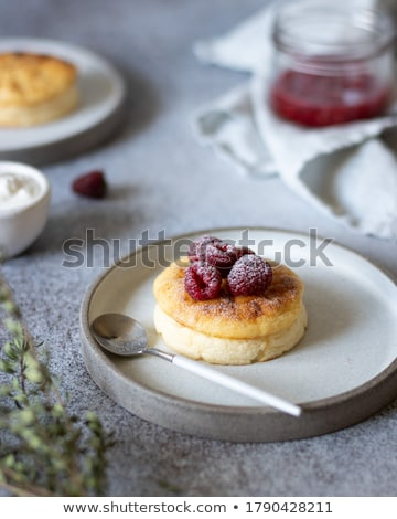 requeijão · torta · passas · de · uva · prato · comida · fruto - foto stock © yuliyagontar