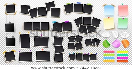 Stock fotó: Fényképkeret · nagy · szett · átlátszó · gradiens · háló