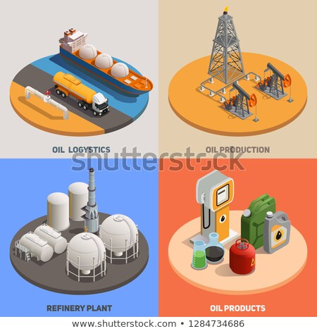 gas color isometric concept icons stock photo © netkov1