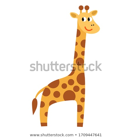 Doodle animal for giraffe standing stock photo © colematt