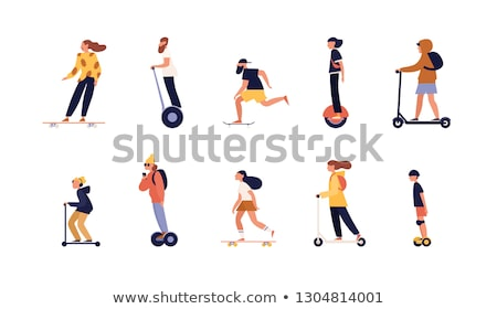 Male and female skaters Stock photo © colematt