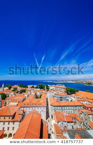 historic zadar towers and rooftops view stock photo © xbrchx