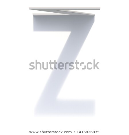 Vertical drop shadow font Letter Z 3D Stock photo © djmilic
