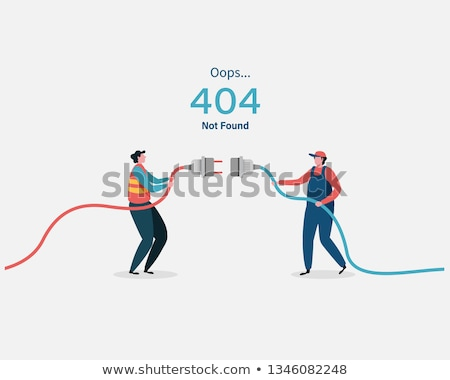 Oops Page Not Found 404 Error Landing Page Vector Stock photo © pikepicture