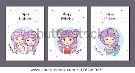 vector Cartoon Zodiac poster art Stock photo © VetraKori