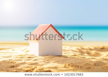 家 · モデル · ビーチ · 砂 · 自然 · 夏 - ストックフォト © andreypopov