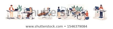 bordo · oficina · cara · Internet · trabajo - foto stock © robuart