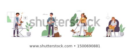 Huisdier diensten hotel puppy veeartsenijkundig Stockfoto © RAStudio