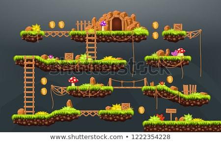 Aventure carte pixel jeu vert nature Photo stock © robuart