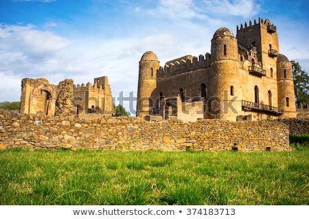Zamek dziedzictwo królewski Etiopia cesarz pałac Zdjęcia stock © artush